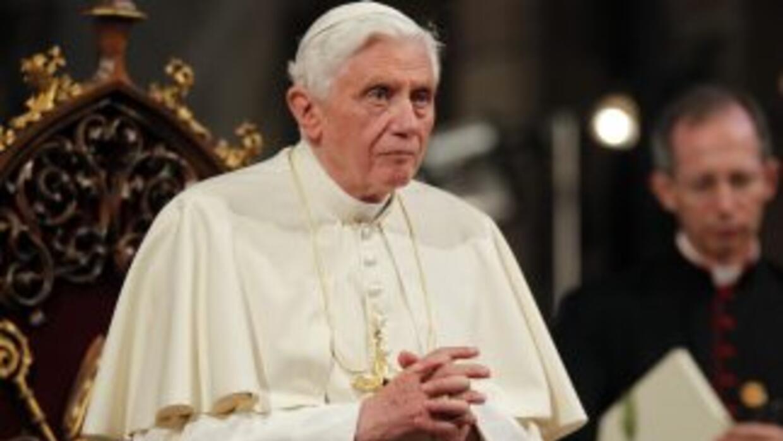 El papa, Benedicto XVI, de visita por Alemania.