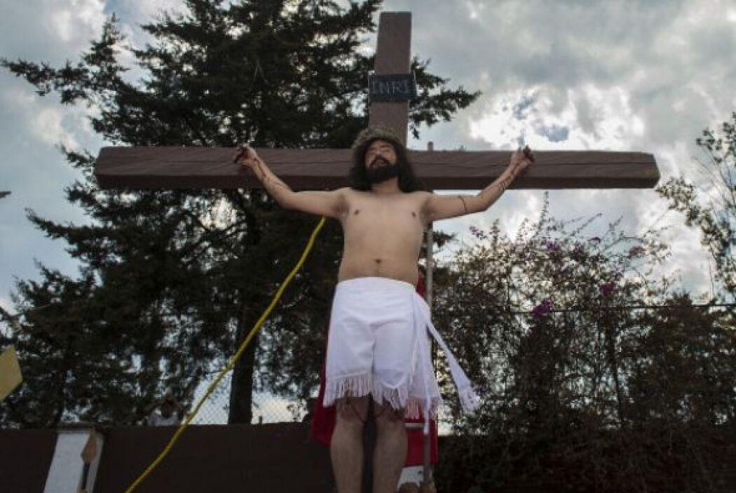 La Pasión de Iztapalapa termina con la Crucifixión.