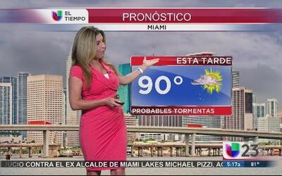 Alta probabilidad de lluvia para el sur de la Florida