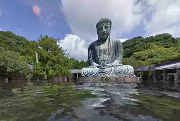 Una imagen del Buda gigante de la ciudad de Kamakura, situada en Kanagaw...