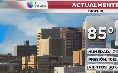 Sistema de alta presión genera elevadas temperaturas en Arizona