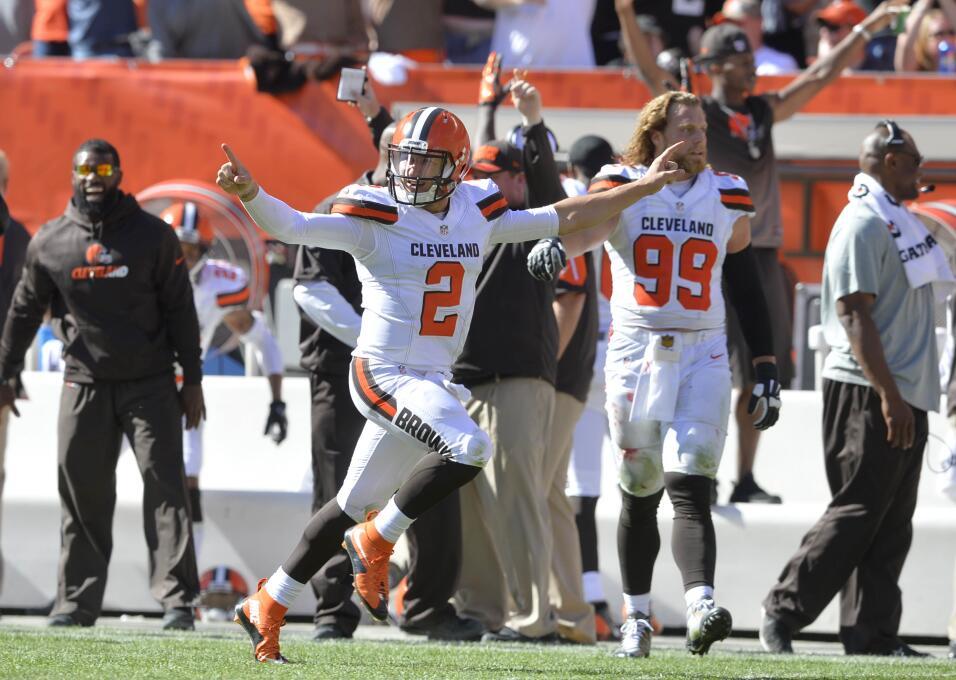 Manziel consiguió 2 TDs para que los Cleveland Browns vencieran a los Ti...