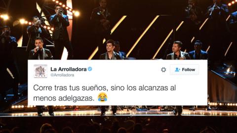 La Arrolladora en su presentación en los Grammy Latino 2014.
