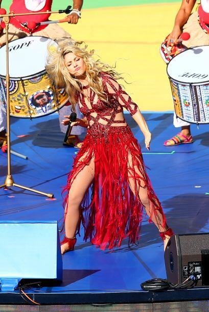 Shakira levantó el ánimo del estadio. Mira aquí los...