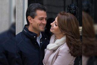 Enrique Peña Nieto y Angélica Rivera. Fotografía tomada del Facebook del...