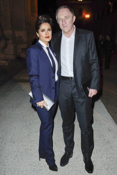 Salma Hayek y su marido hasta se pusieron de acuerdo para ir súpe...