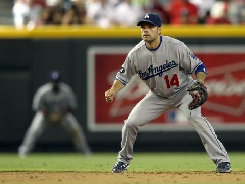 10. Jamey Carroll. Dodgers de Los Ángeles. Tal vez no sea una amenaza en...