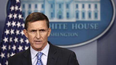 El nuevo consejero de seguridad nacional de Trump, Michael Flynn, dejo e...