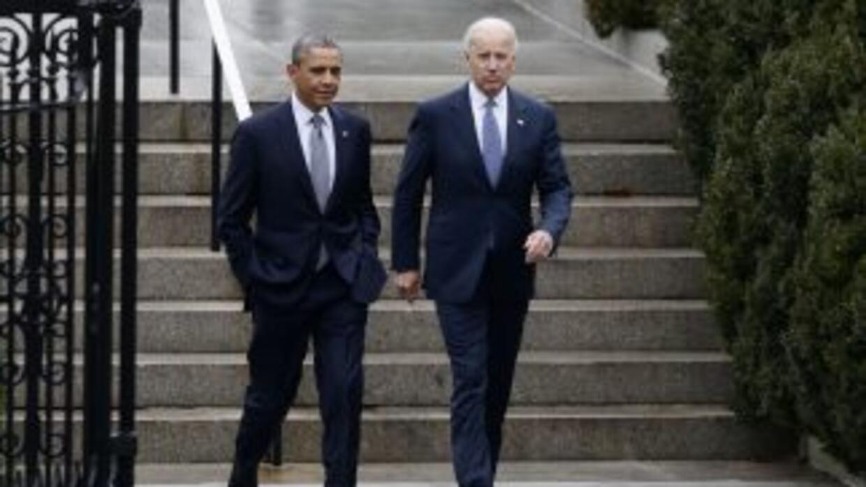 El presidente Barack Obama y el vicepresidente Joe Biden juramentarán el...