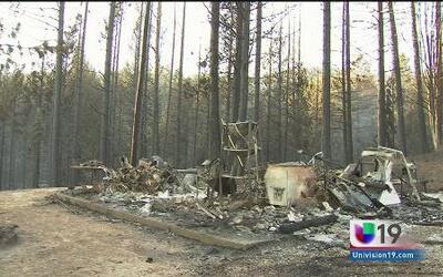 Reportan 12 casas consumidas por incendio 'King'