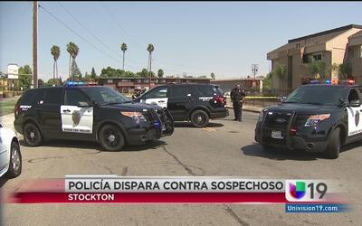 Policía dispara contra sospechoso en Stockton.