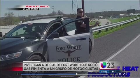 Investigan a policía que roció con gas pimienta a motociclistas