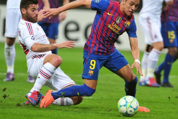 Alexis Sánchez comandó el ataque barcelonista, aunque el delantero chile...