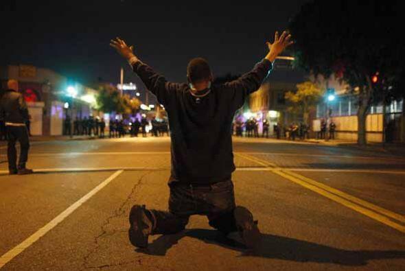 Sin embargo el jefe Charlie Beck advirtió que no aceptarán protestas vio...