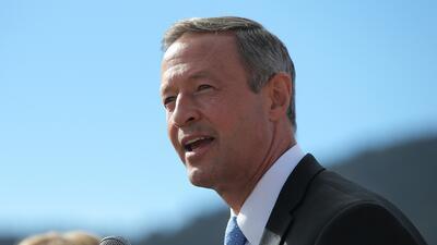 Martin O'Malley durante un evento de campaña