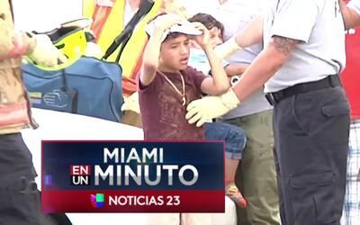 'Miami en un Minuto': fuera de peligro se encuentran dos menores y su ma...