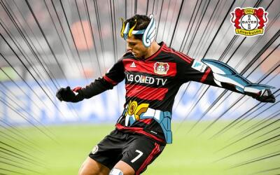 "Javier Hernández ""disfrazado como ""Chicha-Seiya"""