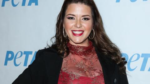 Alicia Machado en la exhibición 'Naked Ambition' de PETA.