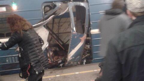Fuerte explosión sacude el metro de San Petersburgo