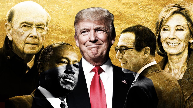 El gabinete de millonarios de Donald Trump