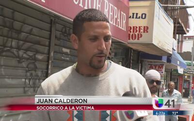 Joven hispano ayuda a mujer herida por una bala perdida