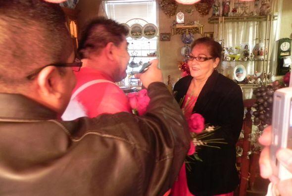 San Juanita estaba súper emocionada.