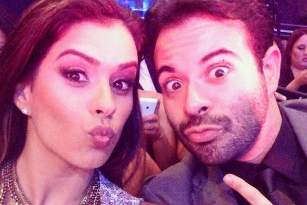 En la gala de Miss Mundo, junto a un gran amigo se divirtió de lo lindo.
