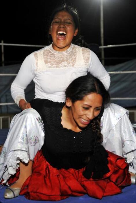 Es tan popular el espectáculo que en las ciudades de El Alto y La Paz, l...