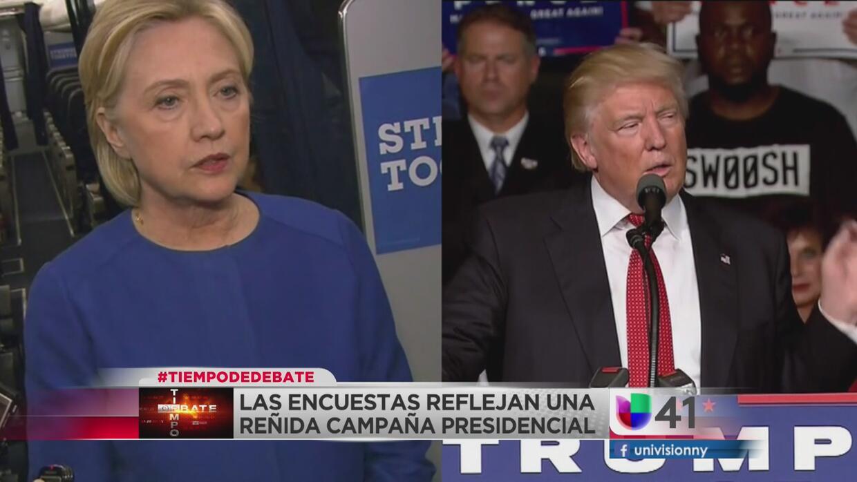 Tiempo de debate: encuestas reflejan una reñida campaña presidencial