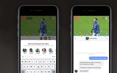 Las transmisiones de Facebook Live se vuelven más interactivas.