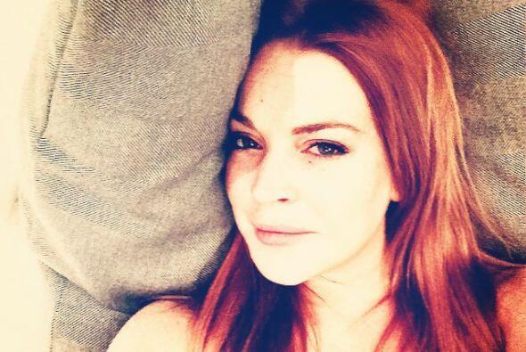 Lindsay Lohan decidió inmortalizar sus pecas del rostro y cabellera de f...