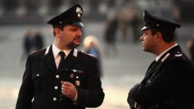 Miembros de los Carabinieri (policía militarizada) de Italia.