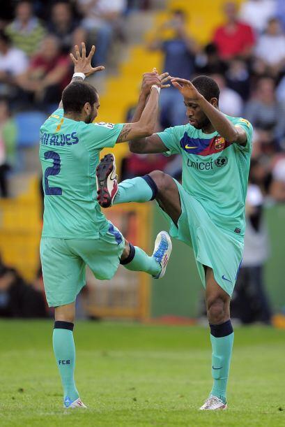 Se volvió a ver el festejo de Keita y Alves, vaya armonía entre estos dos.