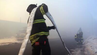 El cuerpo de bomberos trabajando en Nueva York. (Imagen de Archivo).