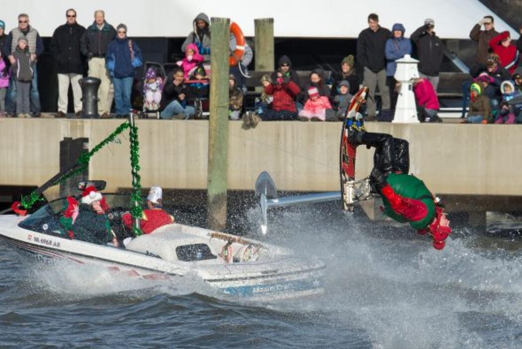 Y en Maryland la Navidad se celebró dando giros.