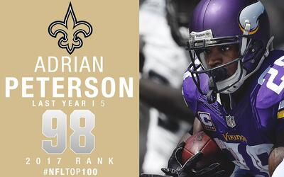 #98: Adrian Peterson (RB, Saints) | Top 100 jugadores 2017