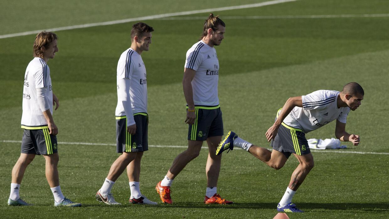 Luka Modric en un entrenamiento del Real Madrid