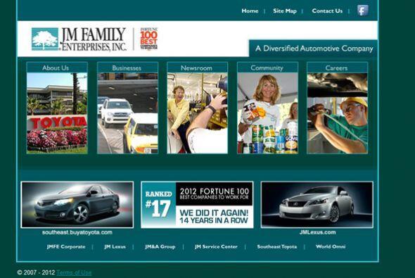 17.JM FAMILY ENTERPRISES-  Número de empleados-3,685.  Industria-...