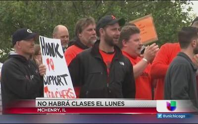 Sigue la huelga en McHenry