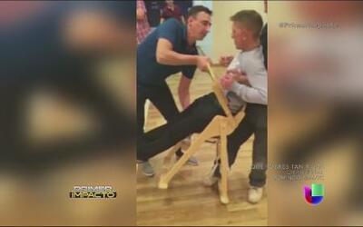 Un sujeto quedó atrapado en una silla de bebé y se volvió viral en las r...