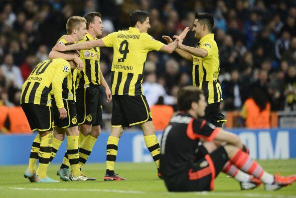 Aunque el gol se marcó como autogol de Álvaro Arbeloa, el Borussia estab...