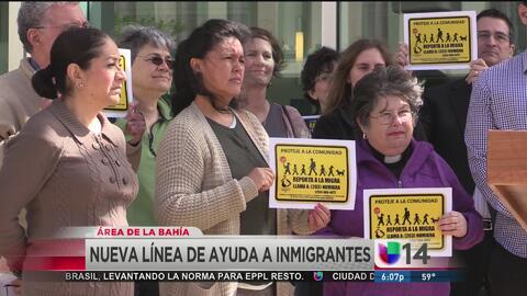 Línea de ayuda para inmigrantes en el área de la Bahía