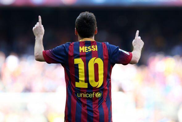 Messi anotó gol y se lo dedicó a su pequeño Thiago, aunque al final le s...