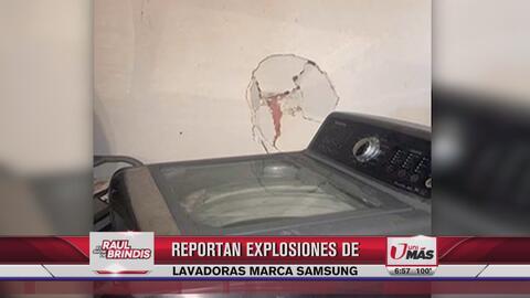 Reportan explosiones de lavadoras marca Samsung