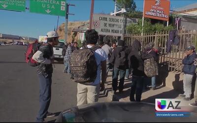 Primeros deportados empiezan a llegar a la frontera de Sonora