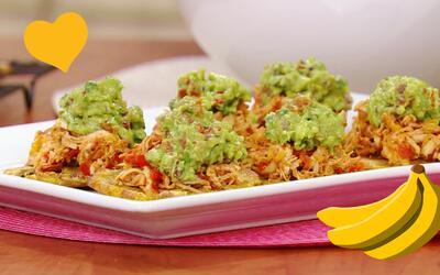 Samar Yorde preparó estos Patacones horneados con Pollo y Guacamole con...