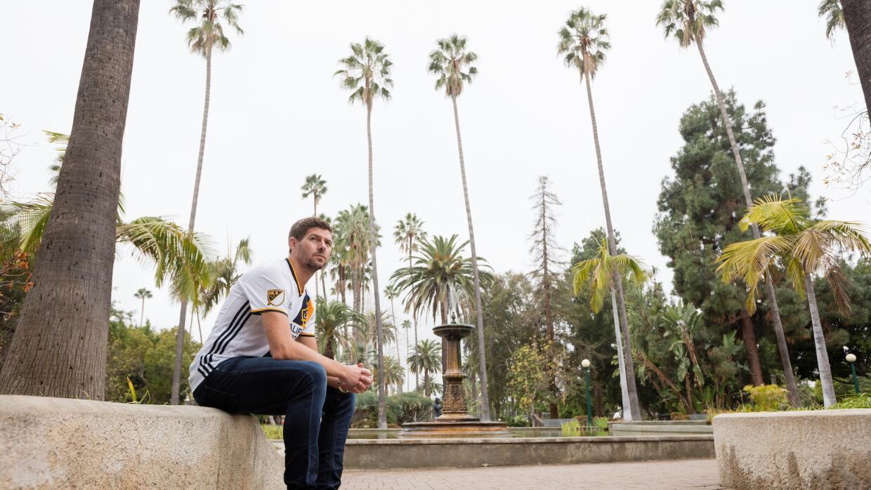 Steven Gerrard, uno más en California.