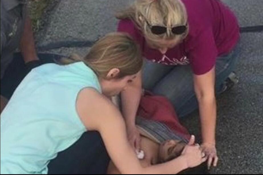 Accidente vial donde resultó herida una niña indocumentada de 4 años