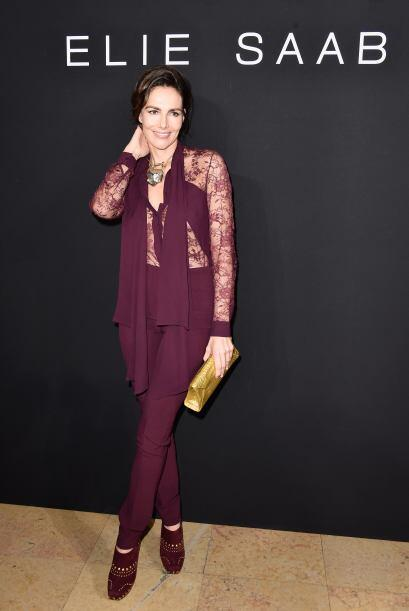 Las transparencias fueron las protagonistas del look de Adriana Abascal.