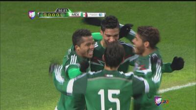 Raúl Jiménez hace el segundo de México contra Bielorrusia